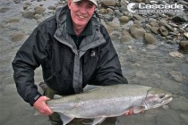 Brett from Cascade catching a steelhead