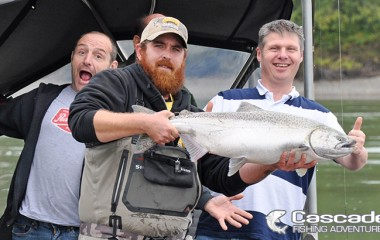 Clayton on a Guided Fishing Trip for Chinook