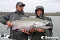Fishing in the rain for Big Chinook