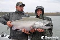 Fishing in the rain for Big Chinook