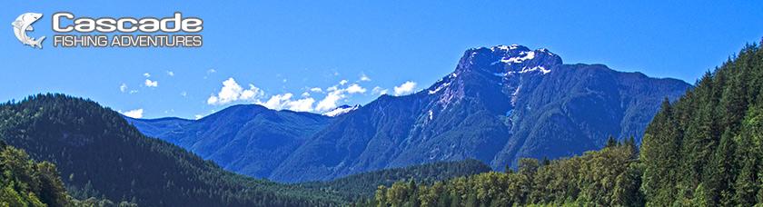 Fishing with scenic views of British Columbia