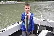I caught a lovely pink salmon
