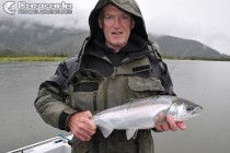 Spinning for coho salmon on the Fraser River
