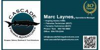Cascade Fishing Adventures - Business Card
