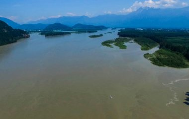 Drone Shot High Above The Fraser