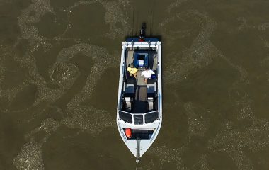 Fishing Boat From a Drone Above