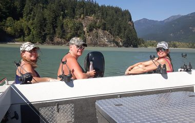 Pausing to Enjoy The Sun and Fraser River